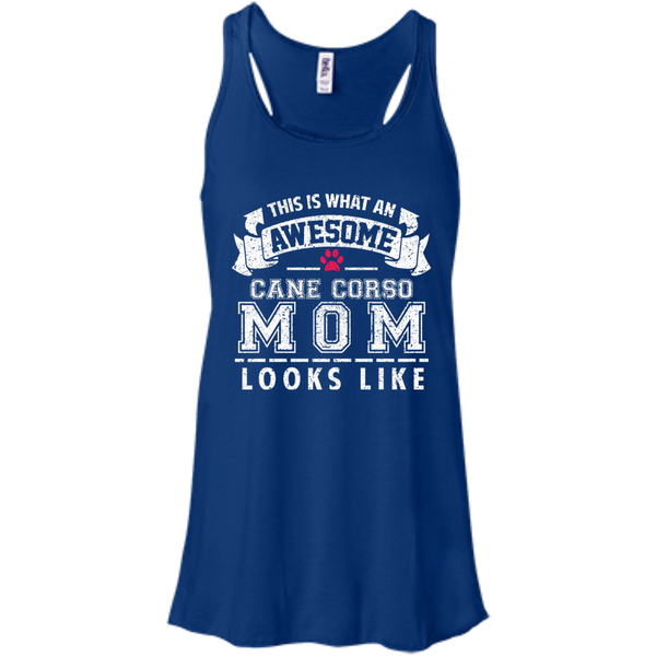 Awesome Mom Bella+Canvas Flowy Racerback Tank