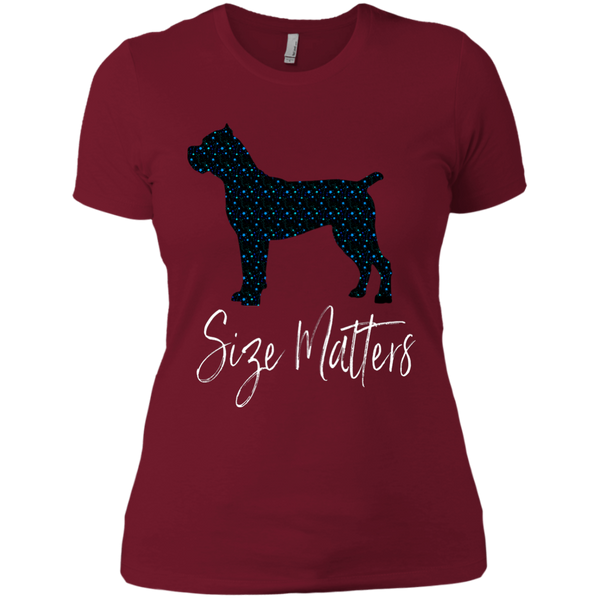 Size Matters Star Ladies' Fitted T-Shirt