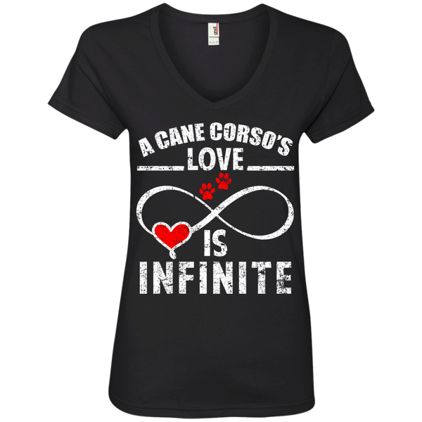 Infinite Cane Corso Love Ladies' V-Neck Tee