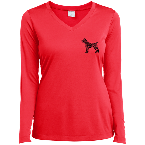 Cane Corso and Tattoos Make Me Happy Ladies' V-Neck T-Shirt