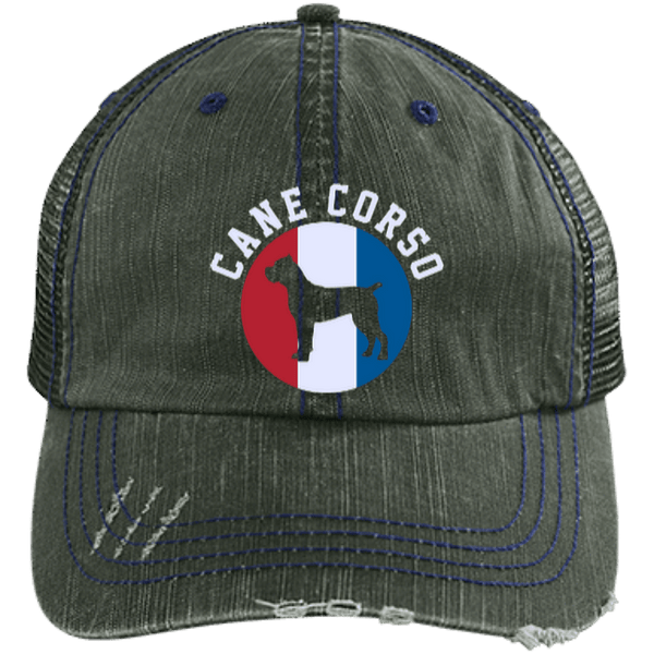 Cane Corso Distressed Unstructured Trucker Cap