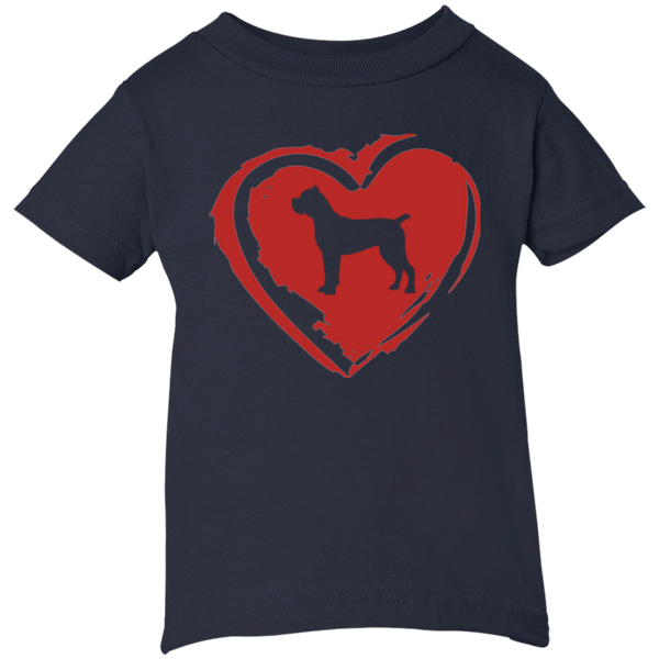 Cane Corso Heart Infant Size Tee