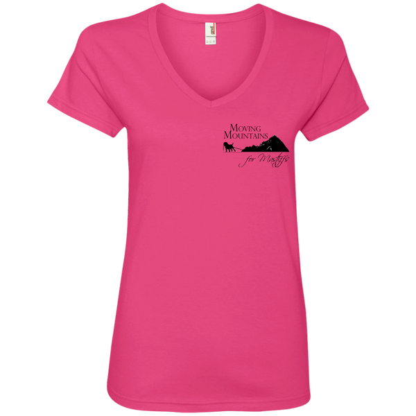 MM4M Donate/Adopt/Foster Anvil Ladies' V-Neck T-Shirt