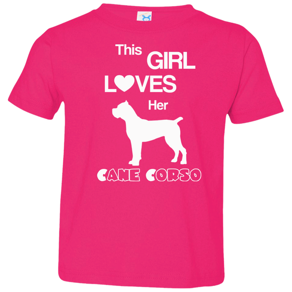 This Girl Loves Her Cane Corso Toddler Girls