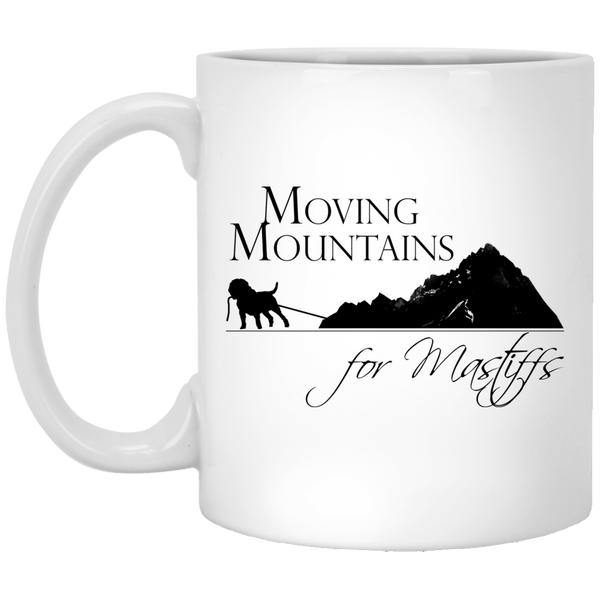 Moving Mountains For Mastiffs Rescue White Mug 11oz