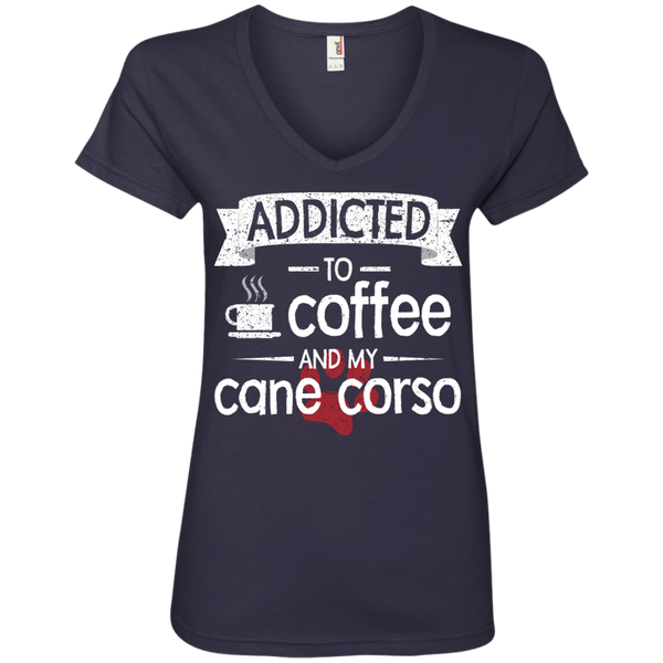 Coffee and Corso Ladies' V-Neck Tee