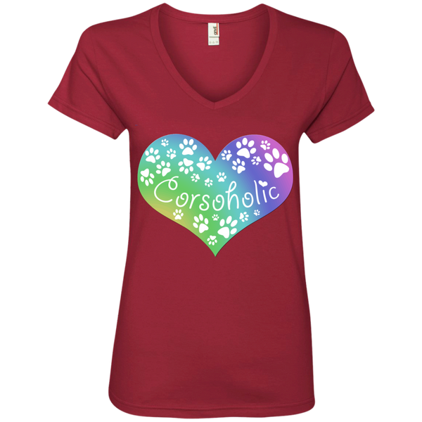 Corsoholic Heart Ladies' V-Neck T-Shirt