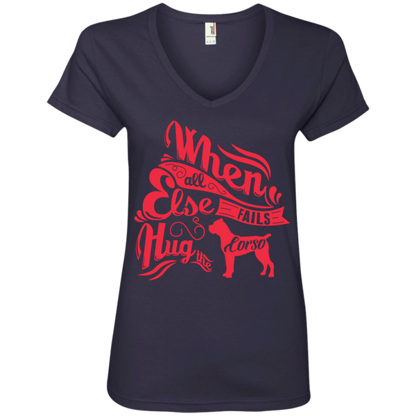 When All Else Fails Ladies' V-Neck Tee