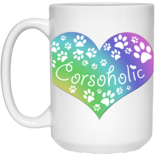 Corsoholic Heart - Design On Both Sides 15 oz. White Mug