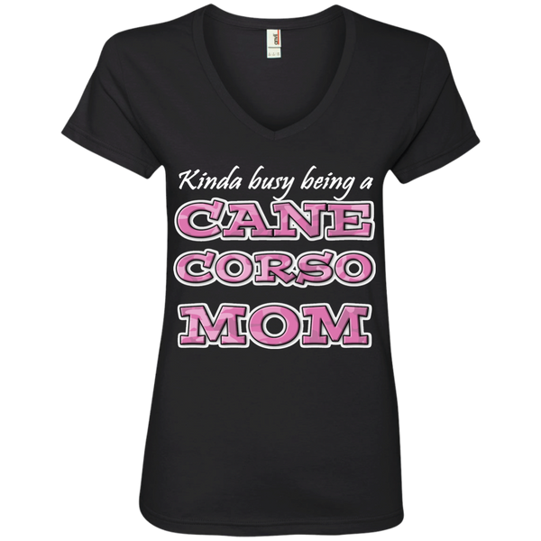 Busy Cane Corso Mom V-Neck T-Shirt