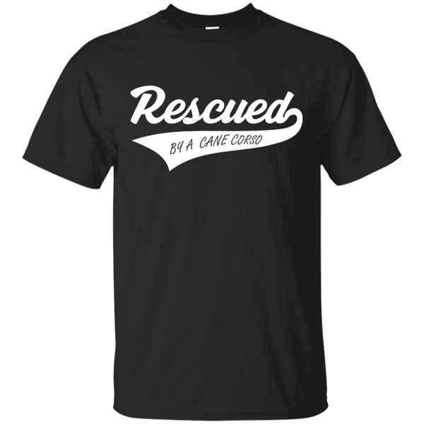 Rescued By A Cane Corso Cotton T-Shirt