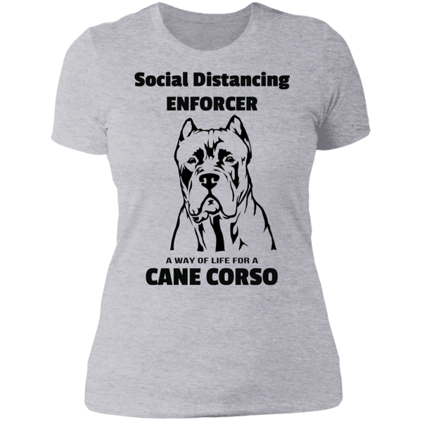 Social Distancing Crop Ladies' Boyfriend T-Shirt