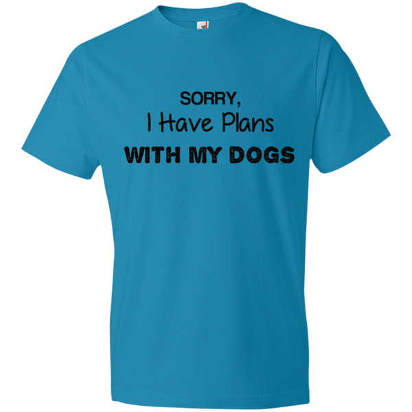 I Have Plans With My Dogs Anvil Lightweight T-Shirt 4.5 oz