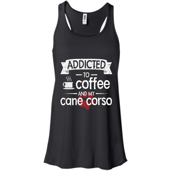 Addicted To Coffee Flowy Racerback Tank