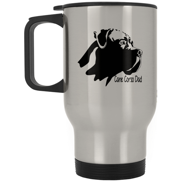 Cane Corso Dad Silver Stainless Travel Mug