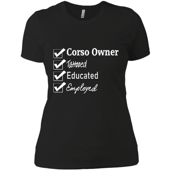 Corso Owner Checklist Fitted T-Shirt