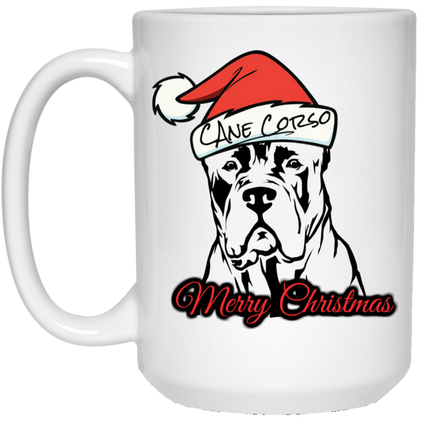 Merry Christmas Cane Corso Mug 15 oz. White Mug