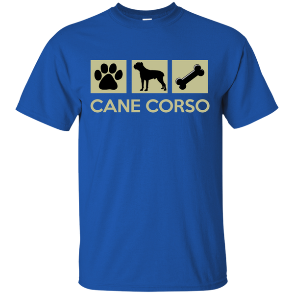 Paw Print, Cane Corso, Bone  Cotton T-Shirt