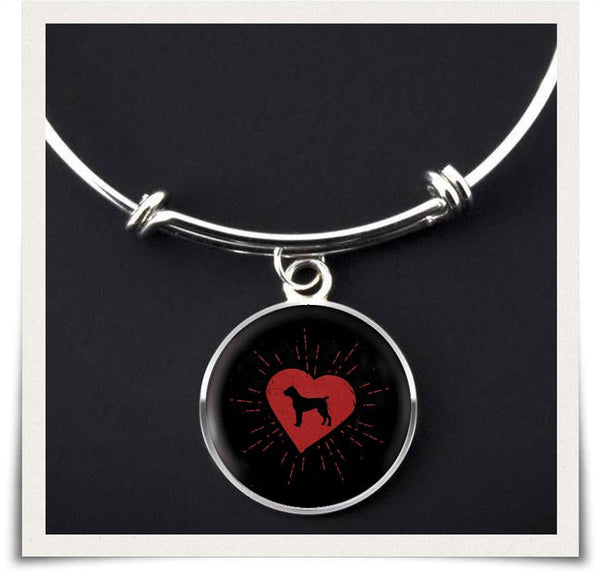 Cane Corso Heart Bangle Bracelet