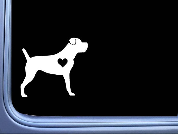 Cane Corso Lil Heart Uncropped  6 inch dog Sticker decal