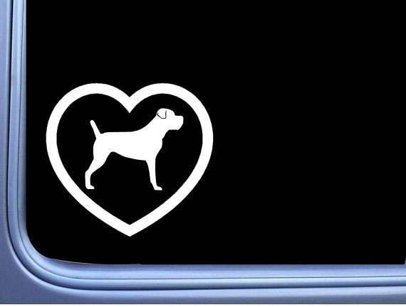 Cane Corso Big Heart Uncropped  6 inch dog Sticker decal