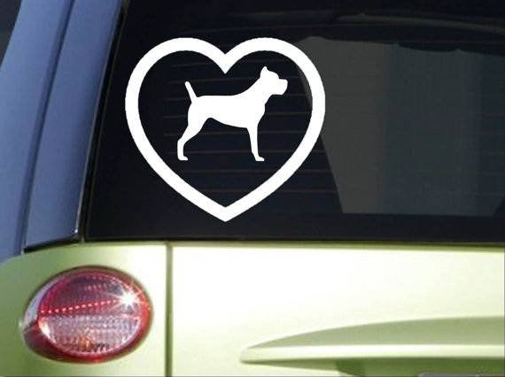 Cane Corso Heart 6x6 inch dog Sticker decal