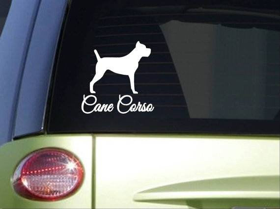 Cane Corso Fancy Monogram 6 inch dog Sticker decal