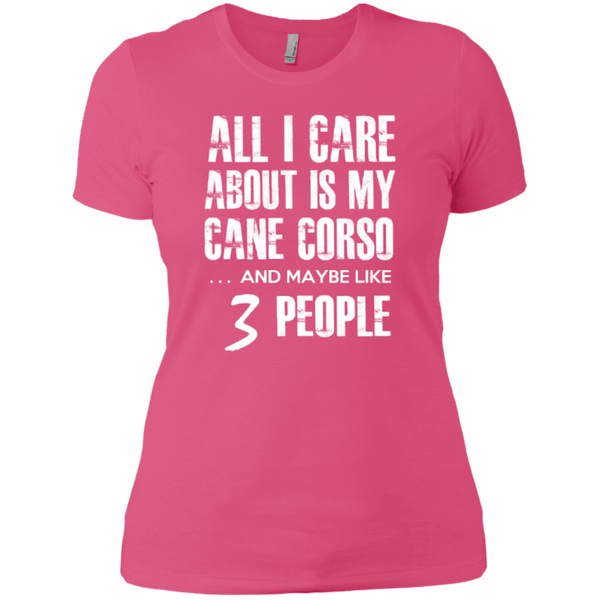 Short Sleeve - Ladies 3 People Cane Corso T-Shirt