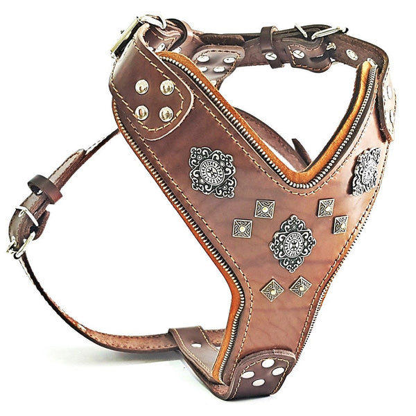 "The ""Aztec"" big dogs Bestia harness"