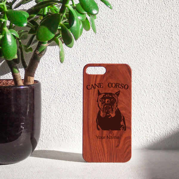 Personalized Cane Corso Cropped iPhone Case
