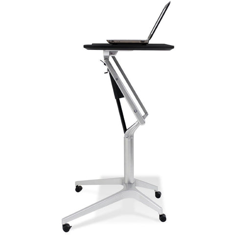 Jesper Office 201-BLK Workpad Height Adjustable Laptop Cart Mobile Desk - Standing Desk Supply
