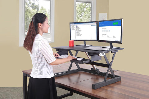 "ApexDesk ZT Series 36"" Electric Desk Converter Riser EDR-3612"