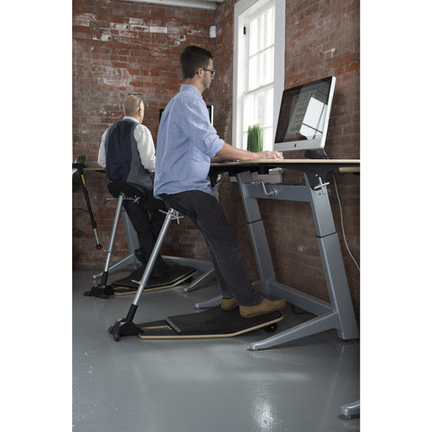 Focal Upright Locus Seat with Anti Fatigue Mat - Standing Desk Supply