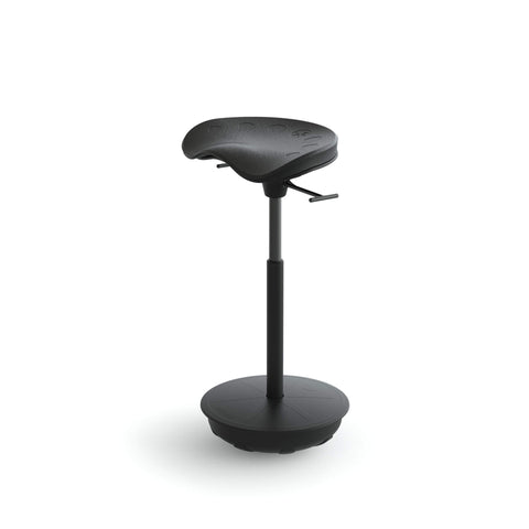Focal Upright Pivot Seat FWS-1000-BK - Ergonomic Wobble Stool - Standing Desk Supply