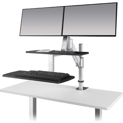 ESI Erognomic Solutions CLIMB2 Adjustable Stand Up Desk Converter - Standing Desk Supply