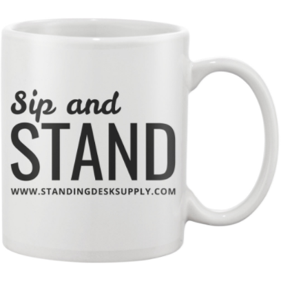 "Exclusive FREE ""Sip and Stand"" Mug!"