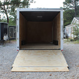 "8.5X20 Tandem Axle V-Nose Cargo Trailer Rear Ramp 84"" Interior Radial Tires and LED Lights"