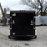 "6x12 Single Axle V-Nose Cargo Trailer with Rear Ramp and 15"" Nitro Filled Radial Tires"
