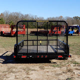 77X10 Single Axle Utility Trailer W/4'Fold Gate, Radial Tires & LED Lights