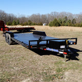"102x20 Tandem Axle 10K Equipment Trailer with 5' x 16"" Rear Ramps 15"" Radial Tires and LED Lights"