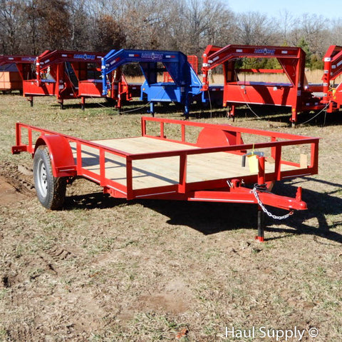 "76X12 Single Axle Tilt Utility Trailer with Tilt Bed and 15"" Radial Tires"