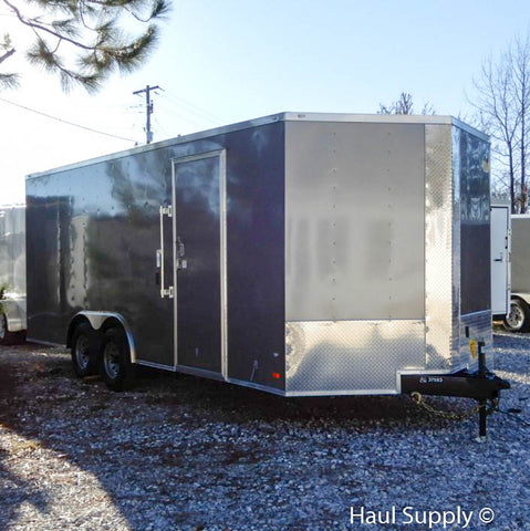 "8.5X20 Tandem Axle Car Hauler with 84"" Interior Height 5200 LB Torsion Axles and LED Lights"