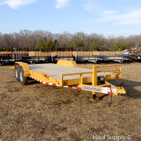 "83x20 Tandem Axle 14k Car Hauler with 5'x16"" Rear Slide in Ramps 16"" Radial Tires and LED Lights"