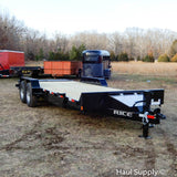 "82x20 Tandem Axle 14K Equipment Trailer with ATP Max Ramps 16"" 10 ply Radials and LED Lights"