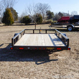 "77x10 Single Axle Utility Trailer with 15"" Radial Tires and LED Lights"