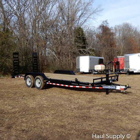 "83X22 14K Tandem Axle Car Hauler with 5'x16"" Fold Up Ramps 16"" 10 ply Radials and LED Lights"