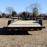 83X20 Tandem Axle Car Hauler Slide-In Ramps Dovetail Radial Tires and LED Lights