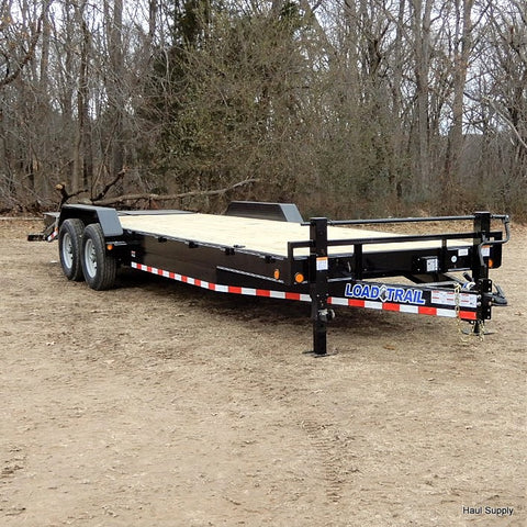 "83X24 Tandem Axle 14k Equipment Trailer with MAX Ramps with Dove 16"" 10 Ply Radials and LED Lights"