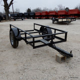 4X8 Single Axle Utility Trailer with No Floor