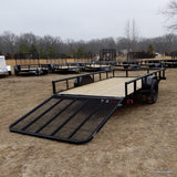 77X12 Single Axle Utility Trailer with 5' Fold Gate Radials & LED Lighting